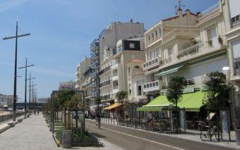 Remblai des Sables d'Olonne, la promenade-plage
